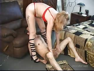 Sexy blonde wife with sub hubby