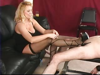 Blonde MILF love hurting a man's cock