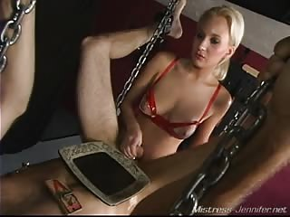 Anal violation from a rude mistress