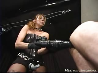 Male slave completely used for mistress pleasure