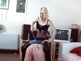 Fat slave with small useless cock punished