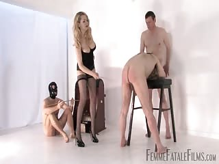 Three slaves get punished