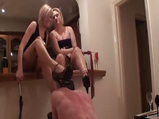 Torturing male slave is fun