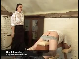 Punish him in severe ass caning