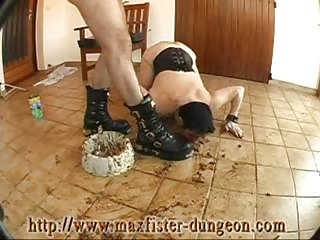 Chubby loser woman degraded hard