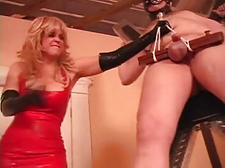 Futile bondage slave cock and balls ruined by mistress