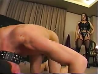 She shows no mercy in whipping her slave