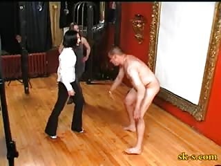 Serious ball busting punishment