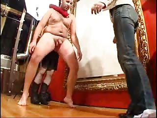 Brutalizing slave in severe ball busting