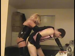 Pegging the slut slave