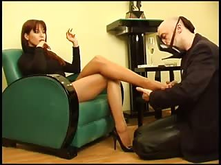 Sophisticated Lady Ramirez humiliating with her feet