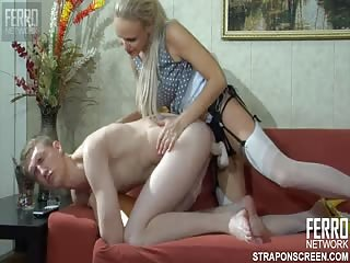 Allowing her fetish girlfriend to pegged him