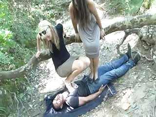 Trampling session in the forest