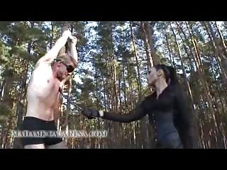 Madame Catarina giving her punishment outdoors