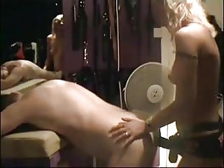 Booty fucking with blonde mistress strapon