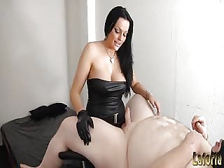 Gorgeous woman enjoy pegging her slave boy