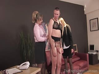 Feminized man in the office gets pegged