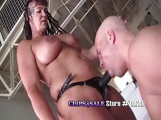 Muscle strapon mistress strapon domination