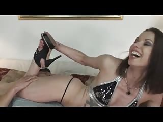 Femdom wrestling with ass worshiping