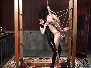 Rope bondage brutal domination