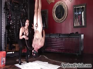 Upside down male slave