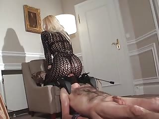 The way she humiliates male slave