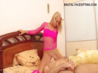 Ass smother pleasure from horny blonde