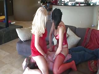 Humiliate slave on the couch